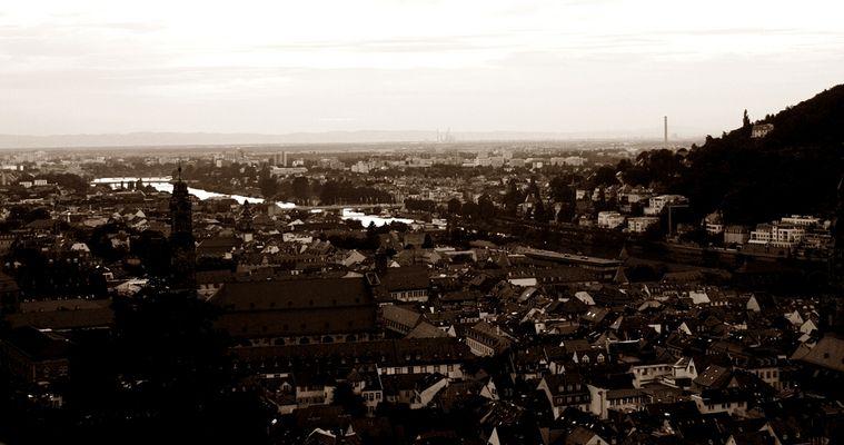 Später Blick über Heidelberg