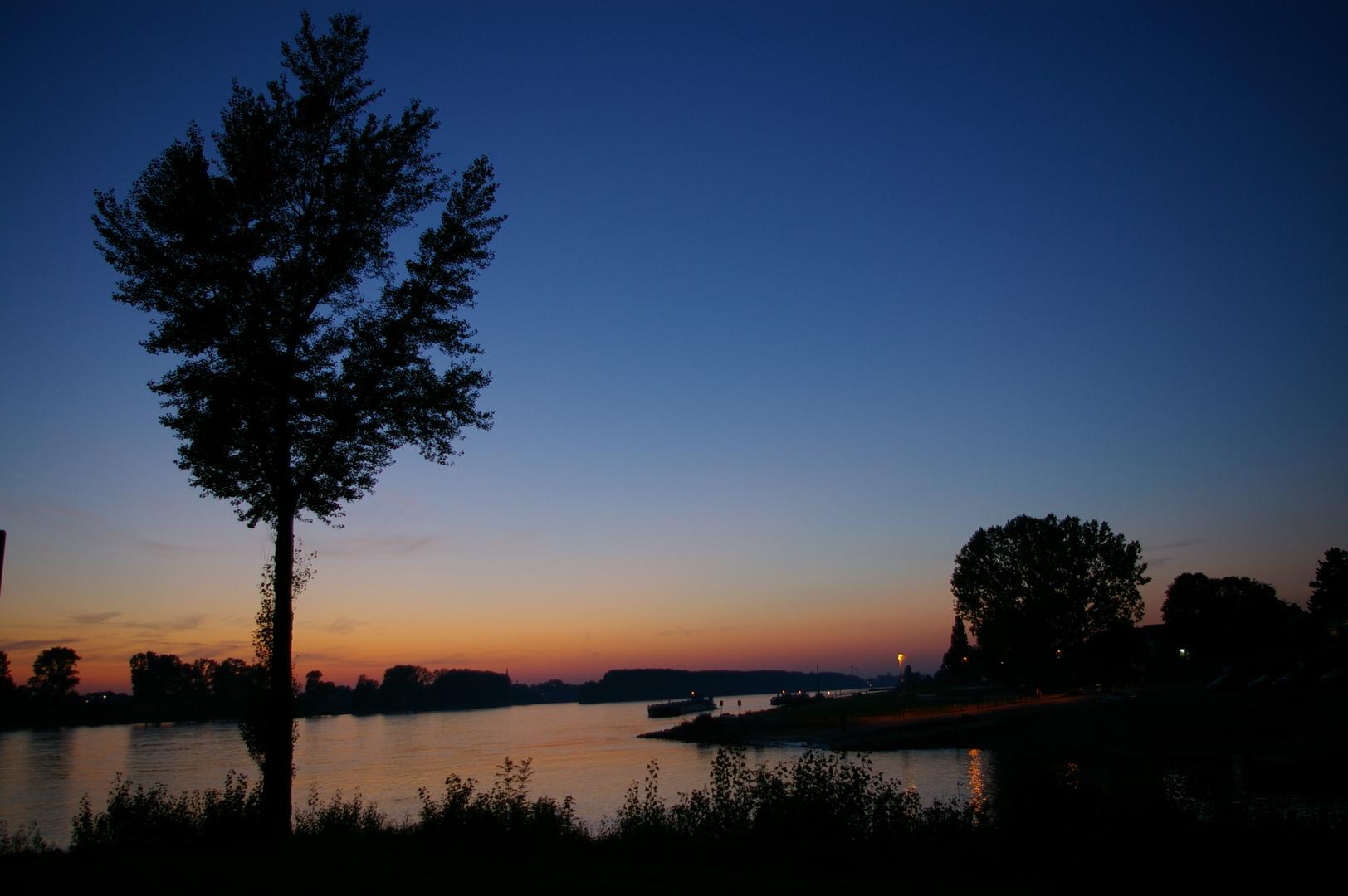Spätsommerabend am Rhein