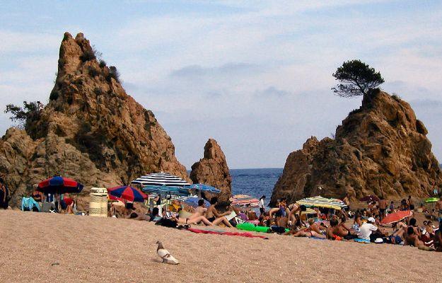 Spanien, Tossa de Mar (am Strand)