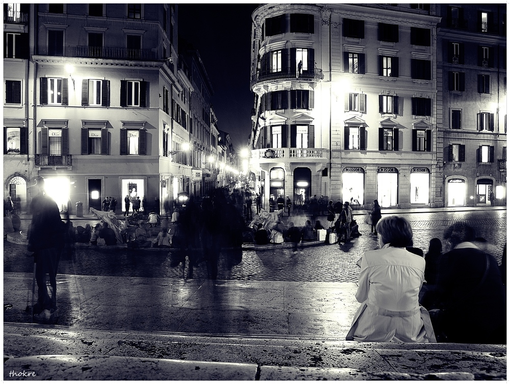 Spanische Treppe am Abend - Rom II