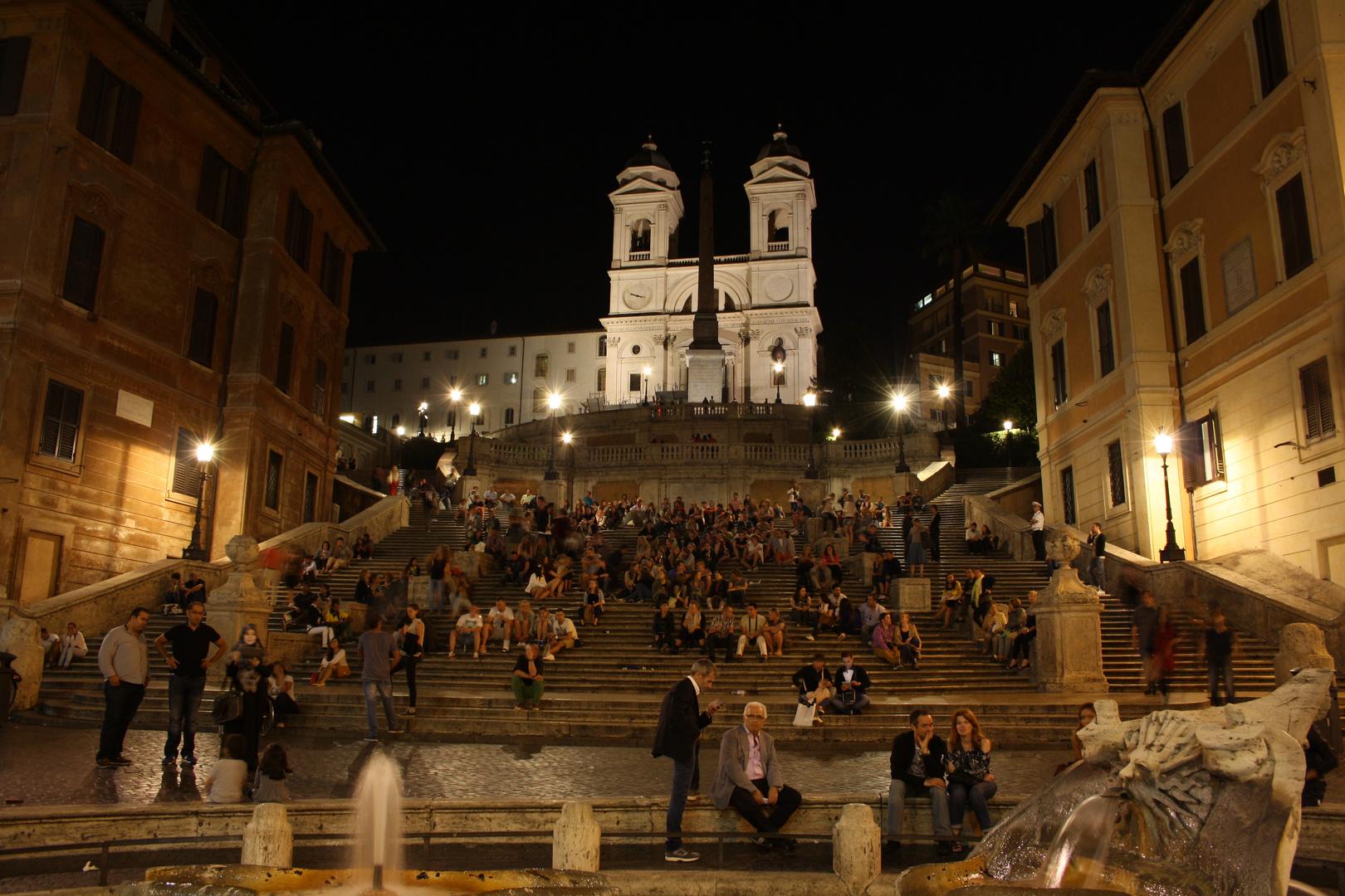 Spanische Treppe bei Nacht