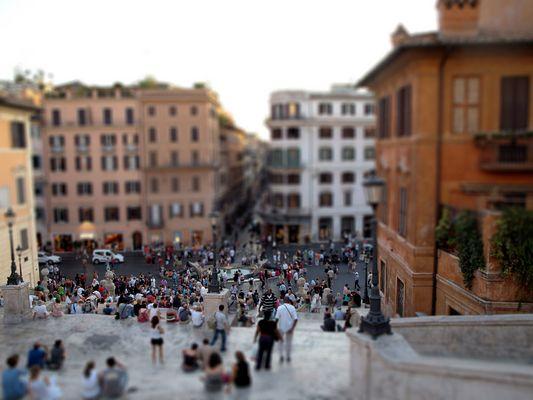 Spanische Treppe in Rom (Tilt & Shift)