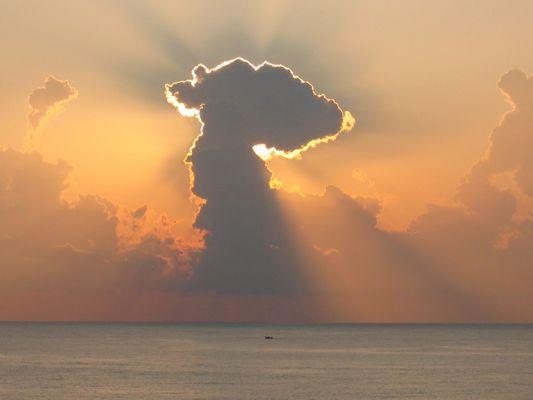 Spanischer Sonnenaufgang auf Mallorca