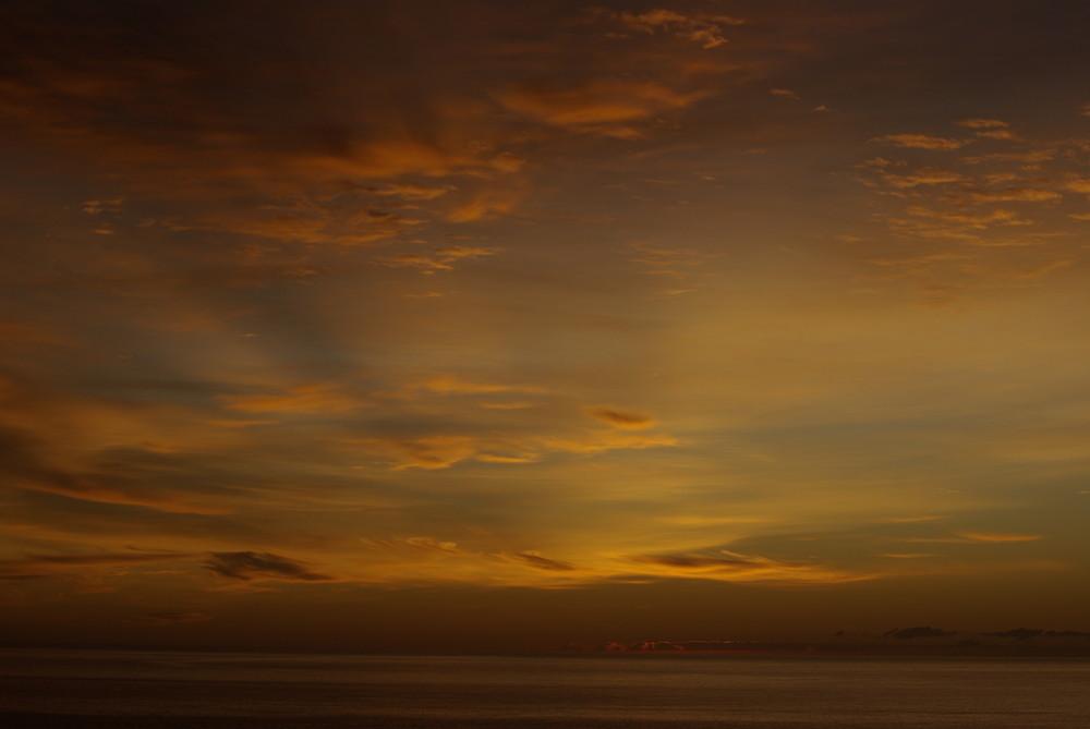 Spanischer Sonnenaufgang im Winter