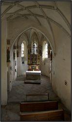 """""""Spartanisch"""" wirkt die Kapelle der Burg zu Burghausen..."""