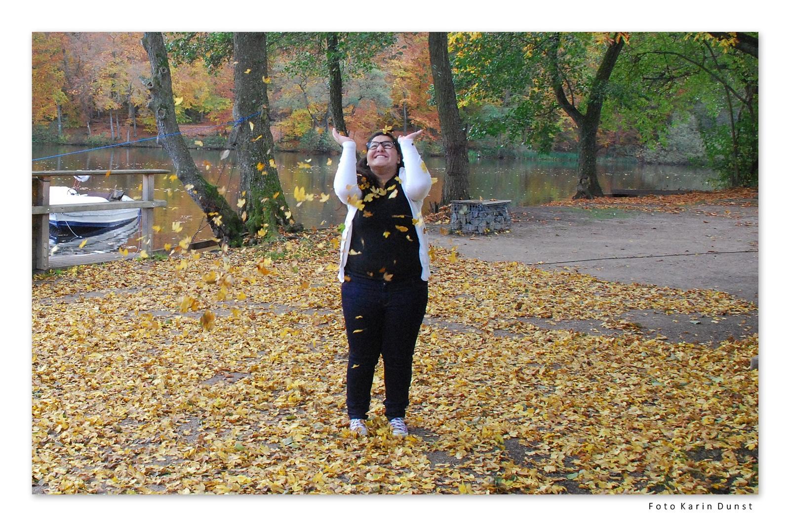 Spass im Herbst