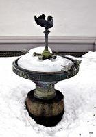 Spatzenbrunnen im Schnee