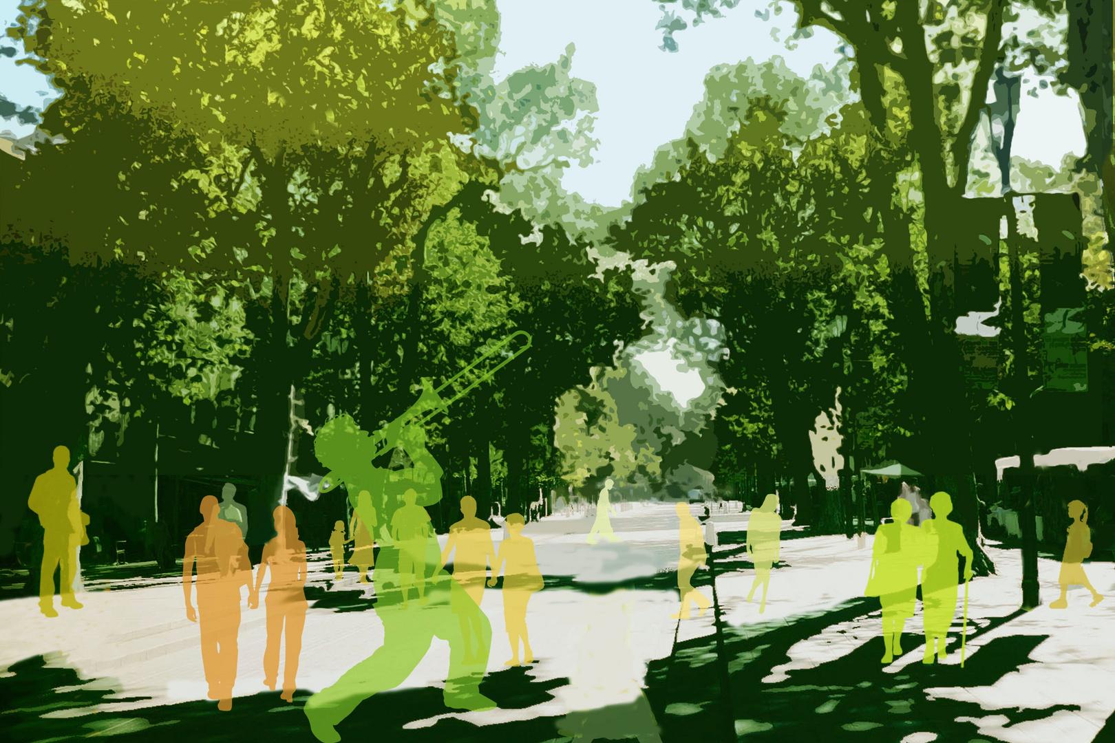 Spaziergänger in Aix