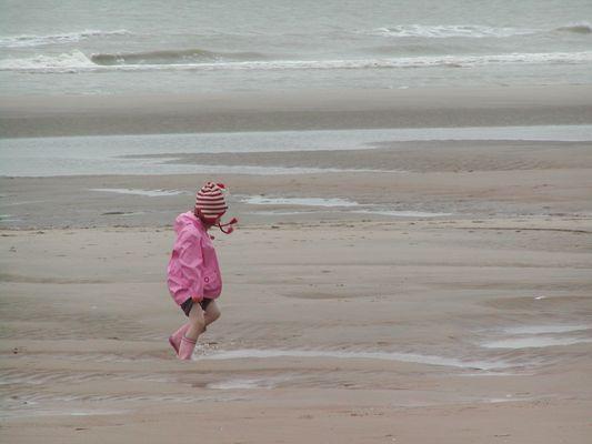 Spaziergang am Strand von De haan