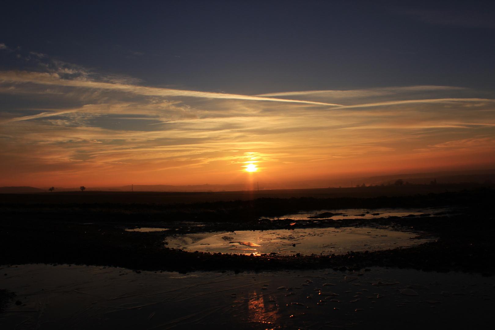 Spaziergang bei Sonnenaufgang
