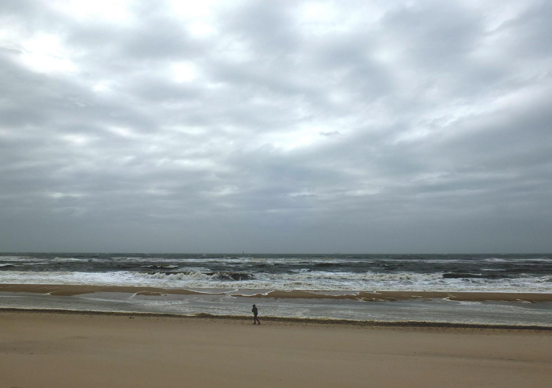 Spaziergang bei Sturm