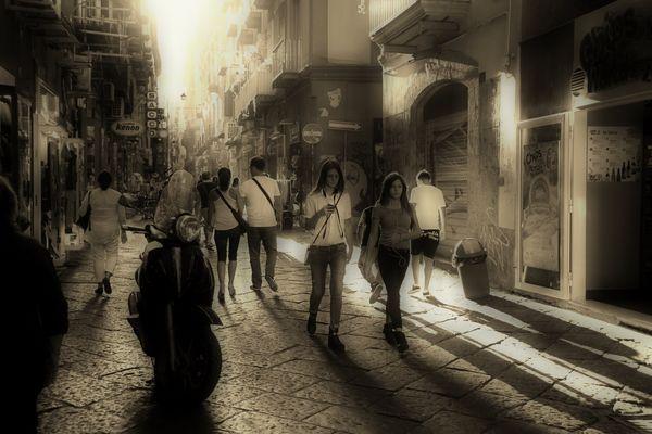 Spaziergang durch Neapel