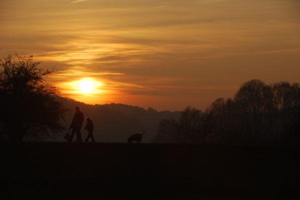 Spaziergang im Sunset