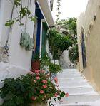 Spaziergang in einem Dorf auf Kreta