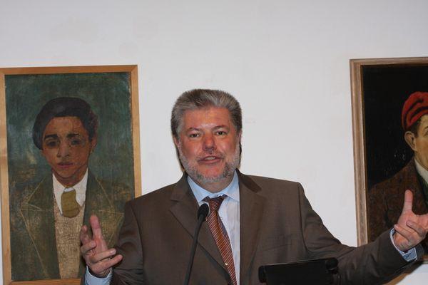 SPD-Vorsitzender Kurt Beck im Felix-Nussbaum-Haus in Osnabrück