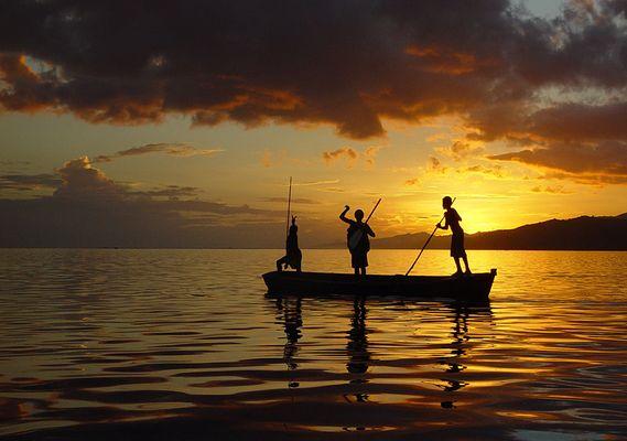 spearfishers - fiji islands