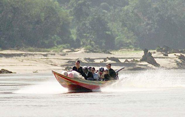 Speedboat auf dem Mekong 2