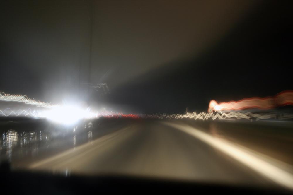 Speeding through the rain III