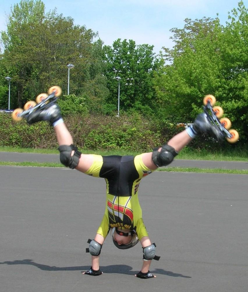 Speedskate-Training der Kids einmal anders