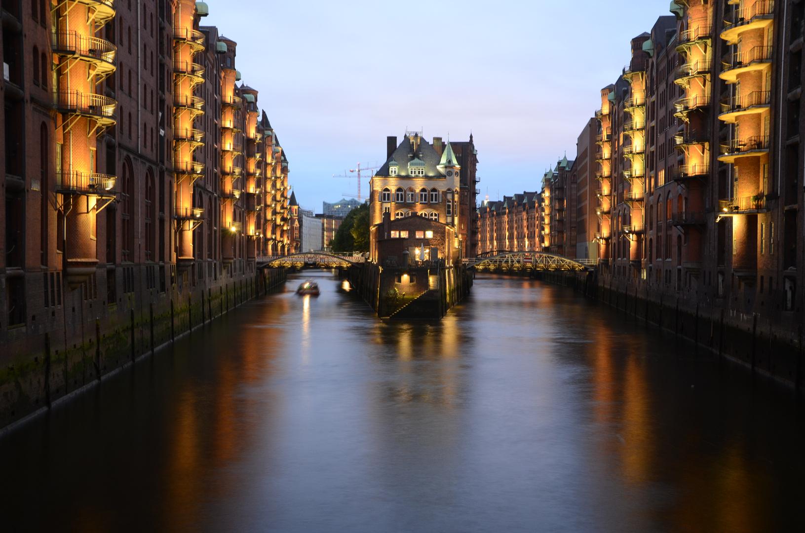 Speicherstadt bei Hamburg