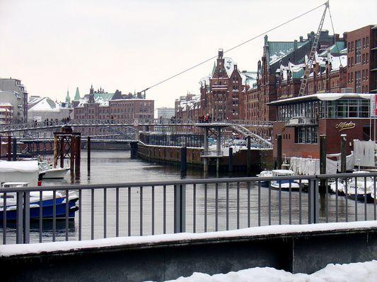 Speicherstadt im Schnee