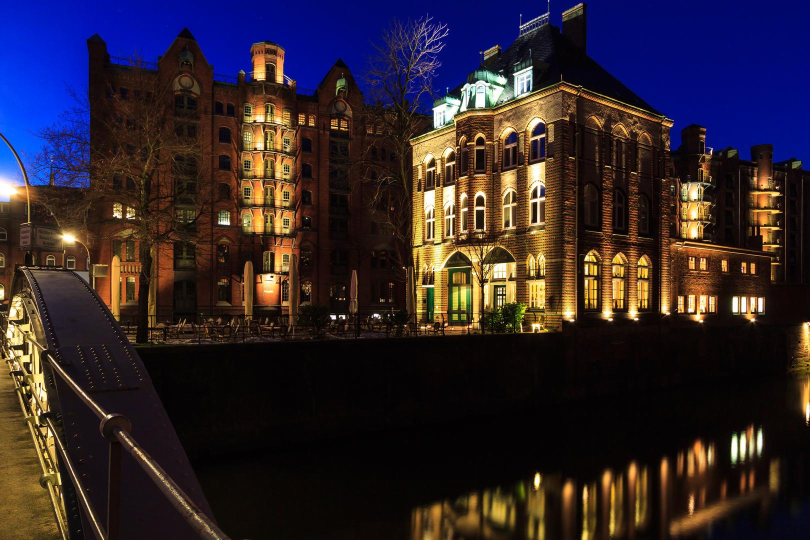 Speicherstadt mit Wasserschloss