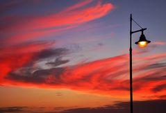 Spektakulärer Abendhimmel über Playa Blanca