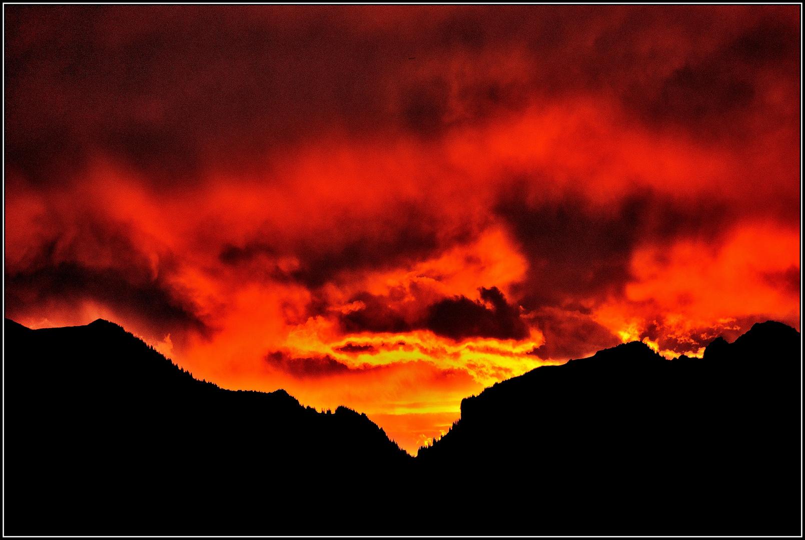 spektakulärer Sonnenaufgang...