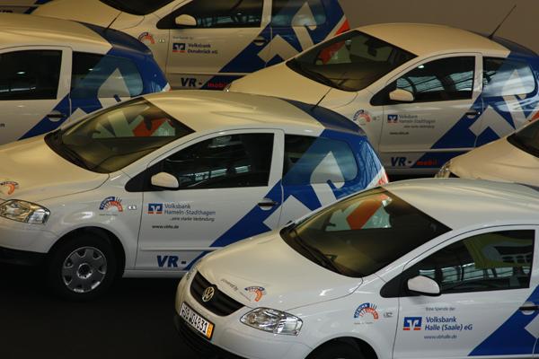 Spendenübergabe bei VW