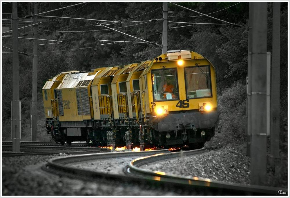 Speno Schienenschleifzug