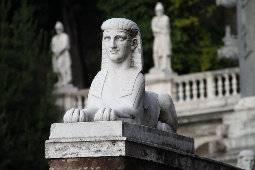 Sphinx at the piazza del popolo in Rome vom Watz