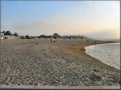 Spiaggia fluviale...fine serata.
