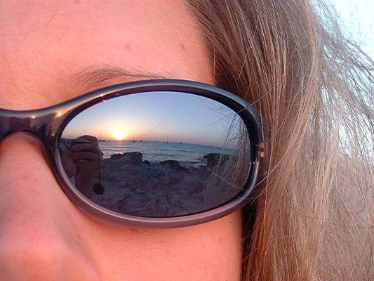 Spiegelbild in der Sonnenbrille