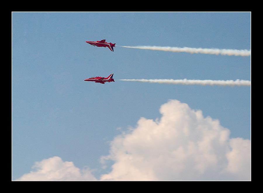 Spiegelflug Red Arrows
