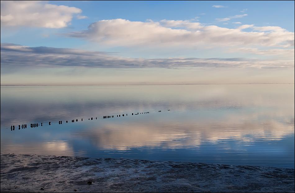 Spiegelglattes Meer