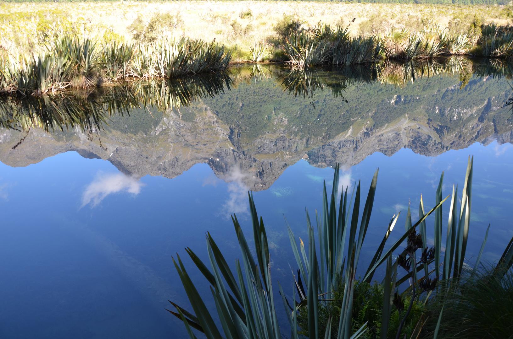 Spiegelsee in Neuseeland