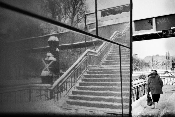 Spiegeltreppe- Bild Gespiegelt