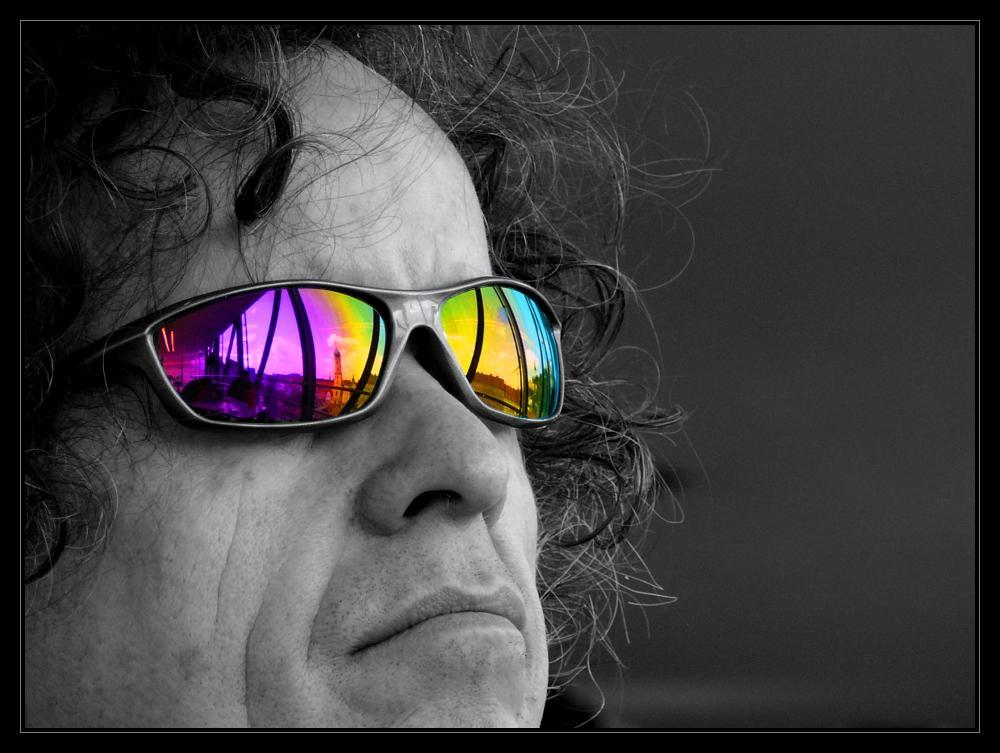 Spiegelung - Brille, Graz, colorkey