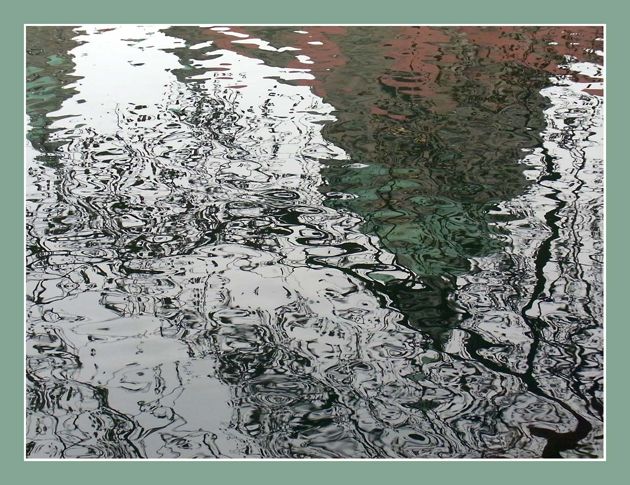 Spiegelung der Rathauskuppel Hannover