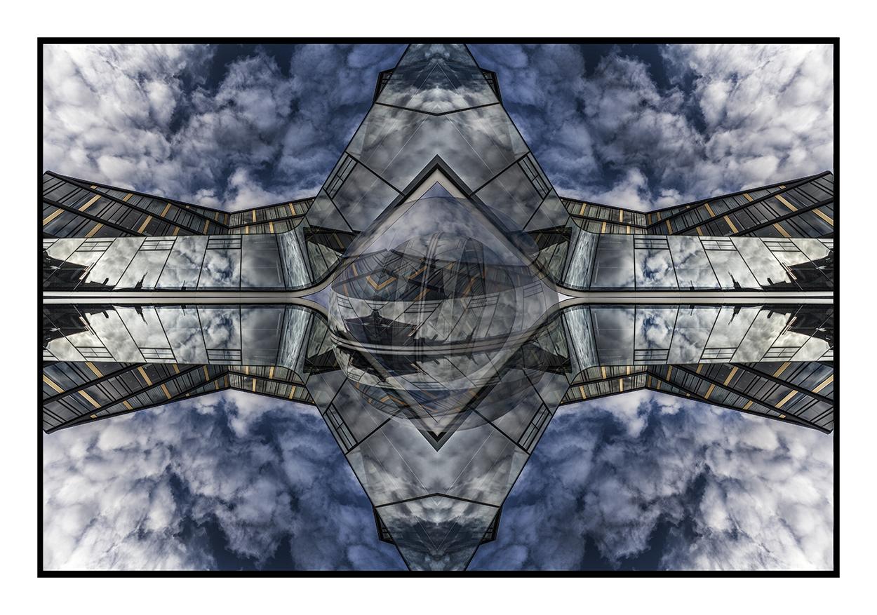 Spiegelung der Wolken