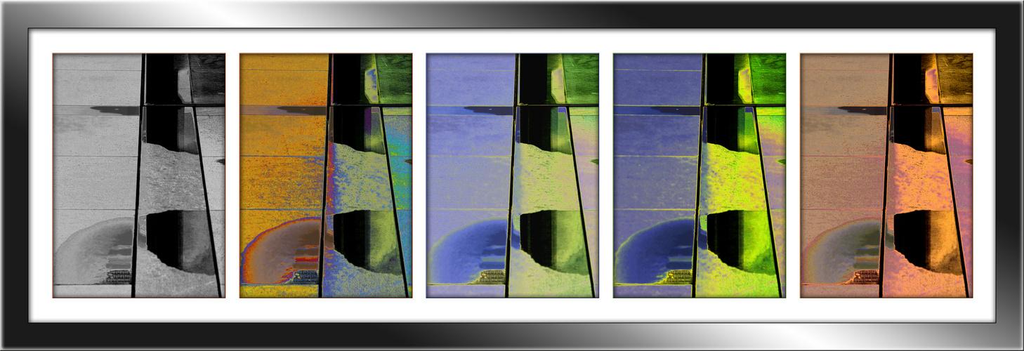 Spiegelung im Farbenspiel
