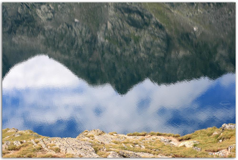spiegelung im see...