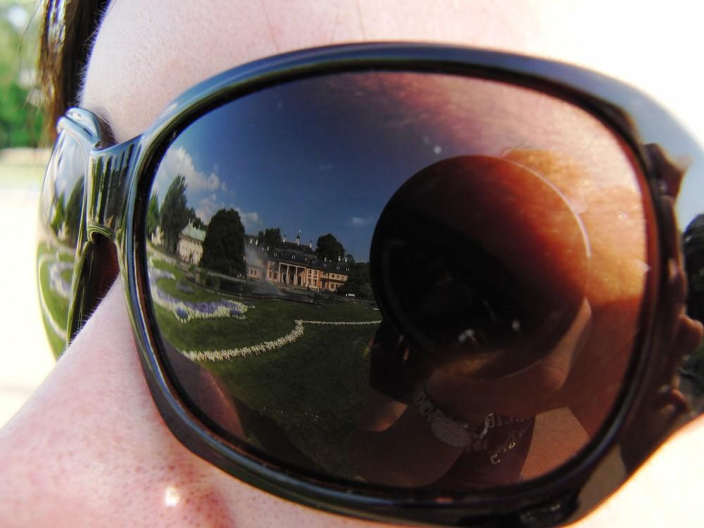 Spiegelung in einer Sonnenbrille