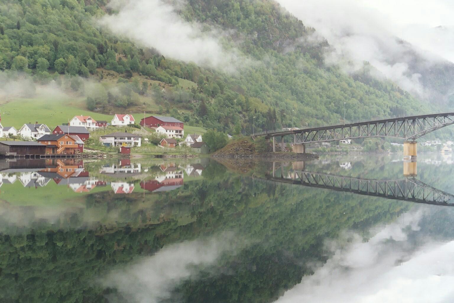 Spiegelung in Sogndal