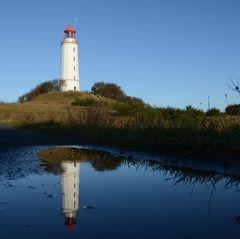 Spiegelung Leuchtturm Dornbusch