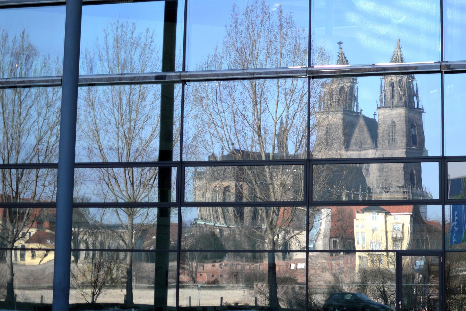 Spiegelung- Magdeburger Dom