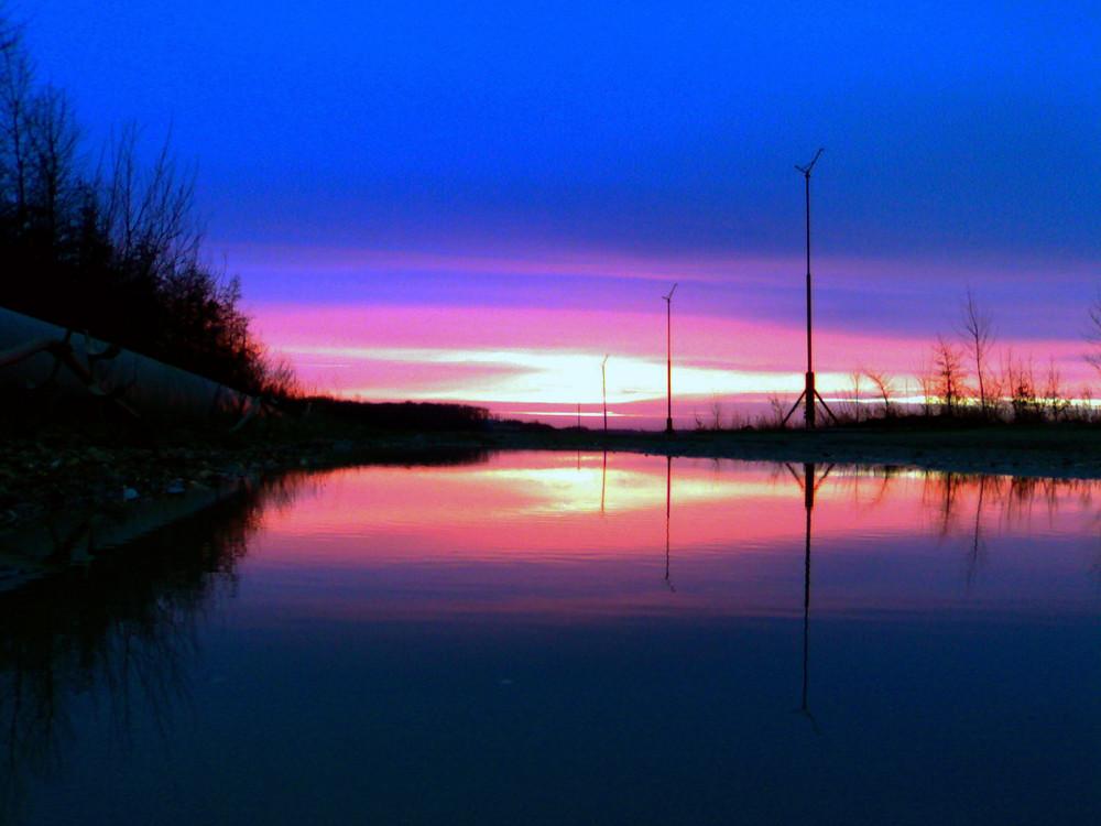 Spiegelung vom Sonnenaufgang