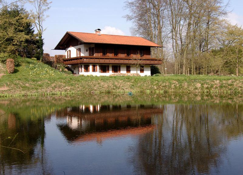 spiegelungen im kurpark tecklenburg