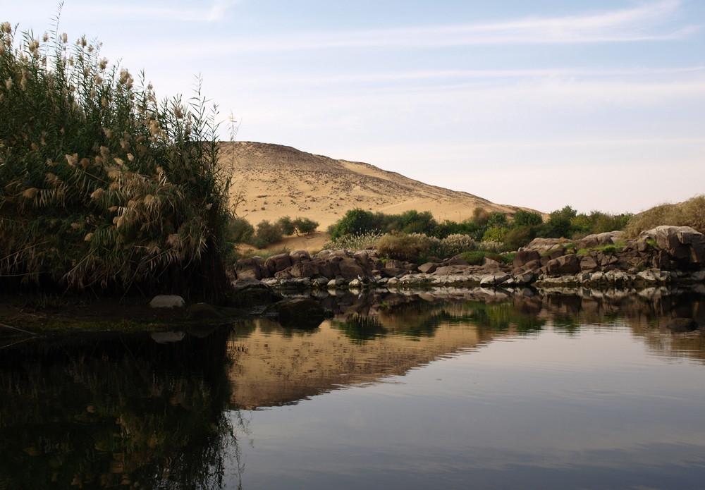 Spiegelungen - Im Naturschutzgebiet von Assuan