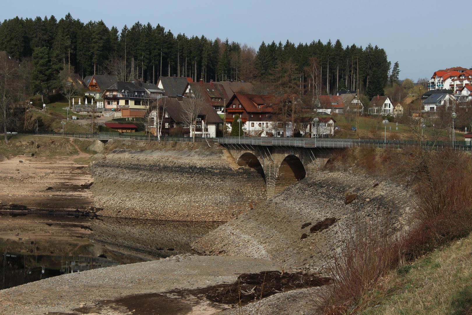 Spiegelungen im Schluchsee (Schwarzwald (D))